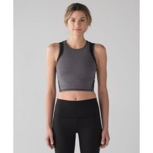 Lululemon Keep It Cropped Tank Sports Bra Grey 4